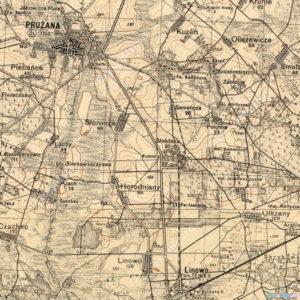 Довоенная польская топографическая карта (1933)