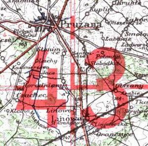 Немецкая военная карта. Европейская часть СССР. (1941)