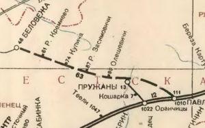 Карта Брест-Литовской ж.д. (1943)