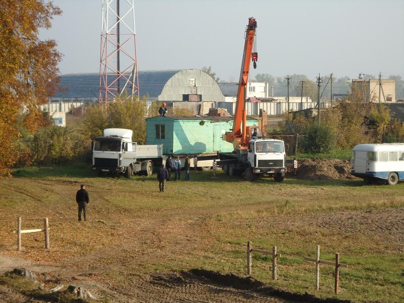 Начало строительства нового корпуса Линовской СШ