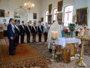 Благодарственный молебен выпускников Линовской СШ